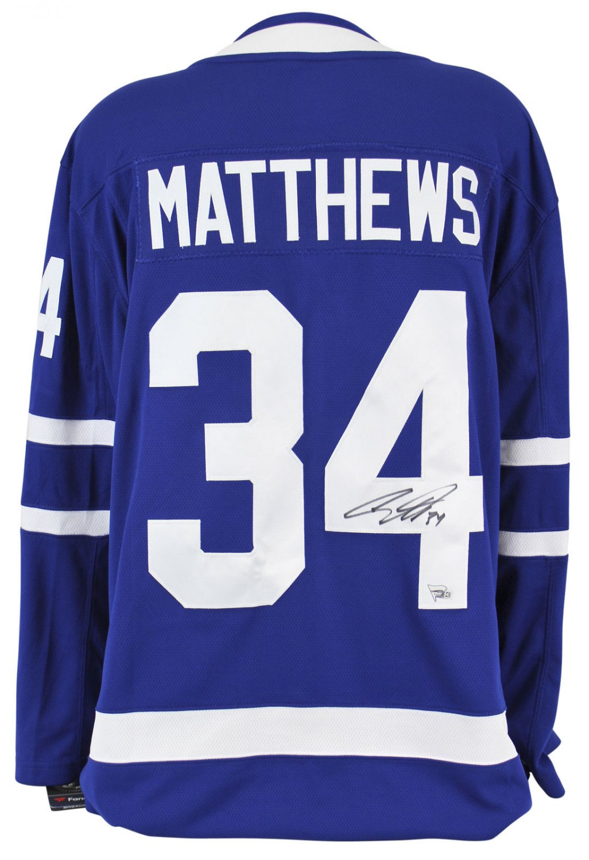 Auston Matthews Autographed Signed Toronto Maple Leafs Jersey FANATICS