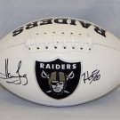 Howie Long Signed Autographed Oakland Raiders Logo Football JSA