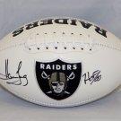 Howie Long Signed Autographed Oakland Raiders Logo Football JSA