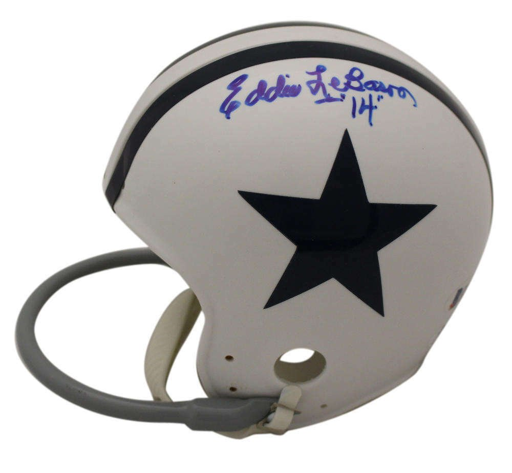 Eddie Lebaron Signed Autographed Dallas Cowboys Mini Helmet BECKETT