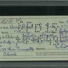 Untouchables Eliot Ness Autographed Signed 1949 Union Bank Check PSA