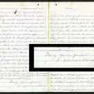 Confederate President Jefferson Davis Autographed Signed Letter BECKETT COA
