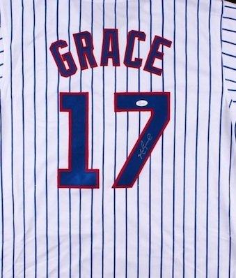 Mark Grace Signed Autographed Chicago Cubs Pinstripe Jersey JSA