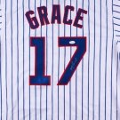 Mark Grace Signed Autographed Chicago Cubs Pinstripe Jersey JSA