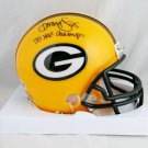 Dorsey Levens Signed Autographed Green Bay Packers Mini Helmet BECKETT