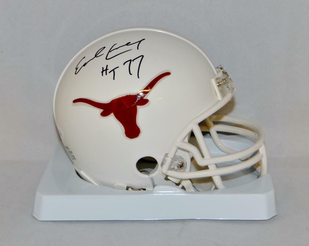 Earl Campbell Signed Autographed Texas Longhorns Mini Helmet JSA