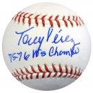 Tony Perez Reds Autographed Signed MLB Baseball PSA