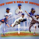 Harvey, deGrom & Syndergaard Autographed Signed New York Mets 16x20 Photo PSA