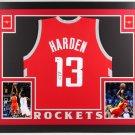 James Harden Autographed Signed Houston Rockets Framed Jersey BECKETT