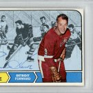 Gordie Howe Detroit Red Wings Signed Autographed 1968 Topps Card PSA