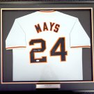 Willie Mays Signed Autographed Framed San Francisco Giants Jersey PSA