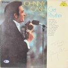 Johnny Cash Autographed Signed Vintage Get Rhythm Album Cover BECKETT