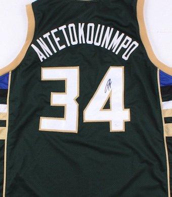 Giannis Antetokounmpo Signed Autographed Milwaukee Bucks Jersey JSA