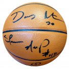 Gary Payton & Shawn Kemp Seattle SuperSonics Signed Autographed Spalding Basketball PSA