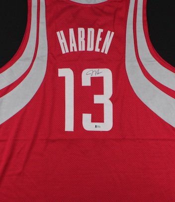 James Harden Autographed Signed Houston Rockets Jersey BECKETT