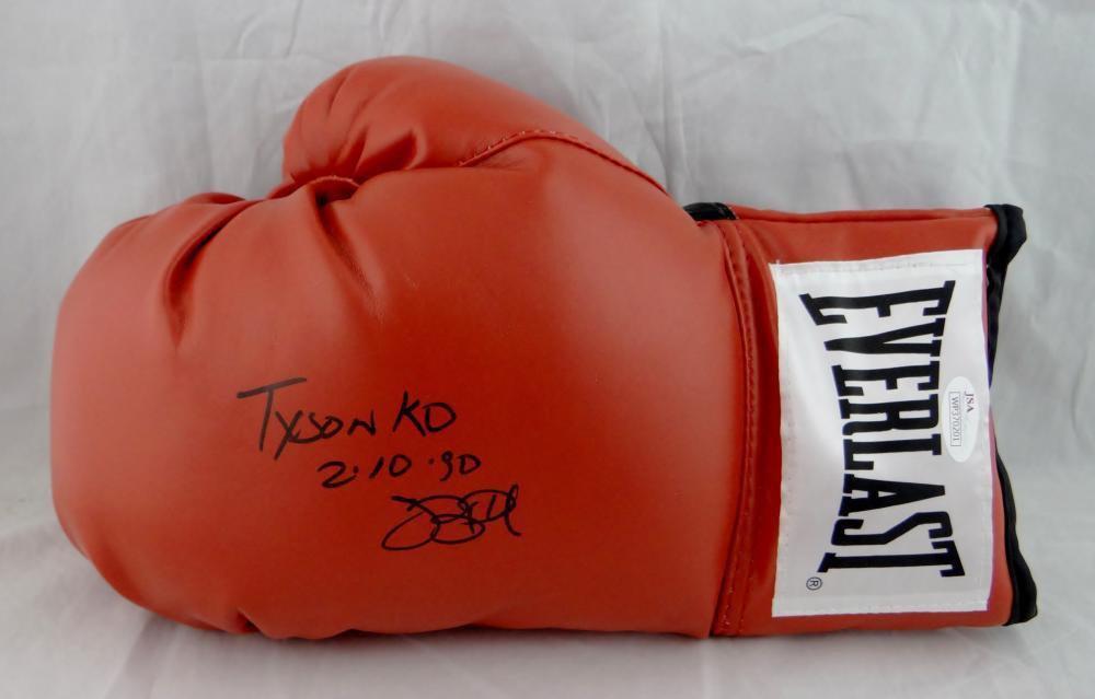 "Buster Douglas Autographed Signed Boxing Glove ""Tyson KO"" JSA"