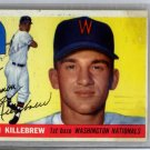 Harmon Killebrew Senators Signed Autographed 1955 Topps Rookie Card BECKETT