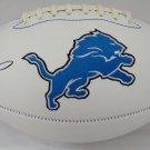 Barry Sanders Autographed Signed Detroit Lions Logo Football BECKETT