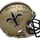 Rickey Jackson Signed Autographed New Orleans Saints Mini Helmet JSA