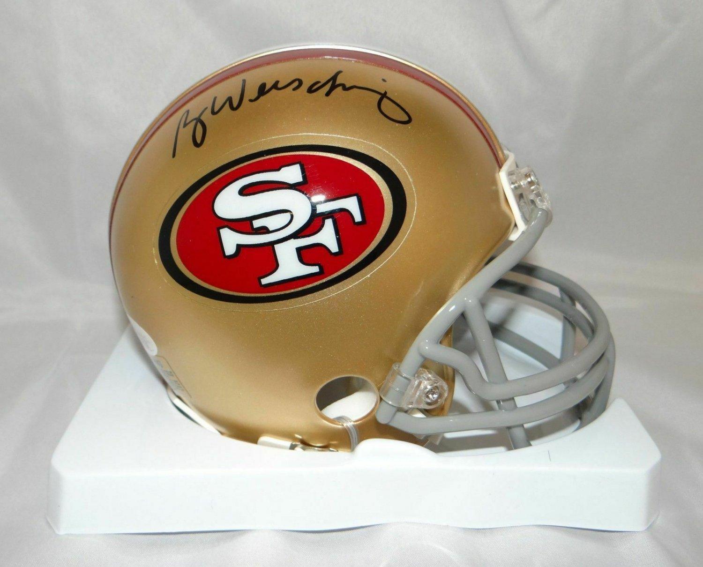 Ray Wersching Signed Autographed San Francisco 49ers Mini Helmet JSA