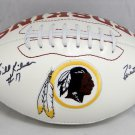 Billy Kilmer Signed Autographed Washington Redskins Logo Football JSA