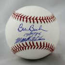 Mookie Wilson and Bill Buckner Mets Red Sox Autographed Signed Official Baseball JSA