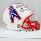 Robert Brazile Signed Autographed Houston Oilers Mini Helmet JSA