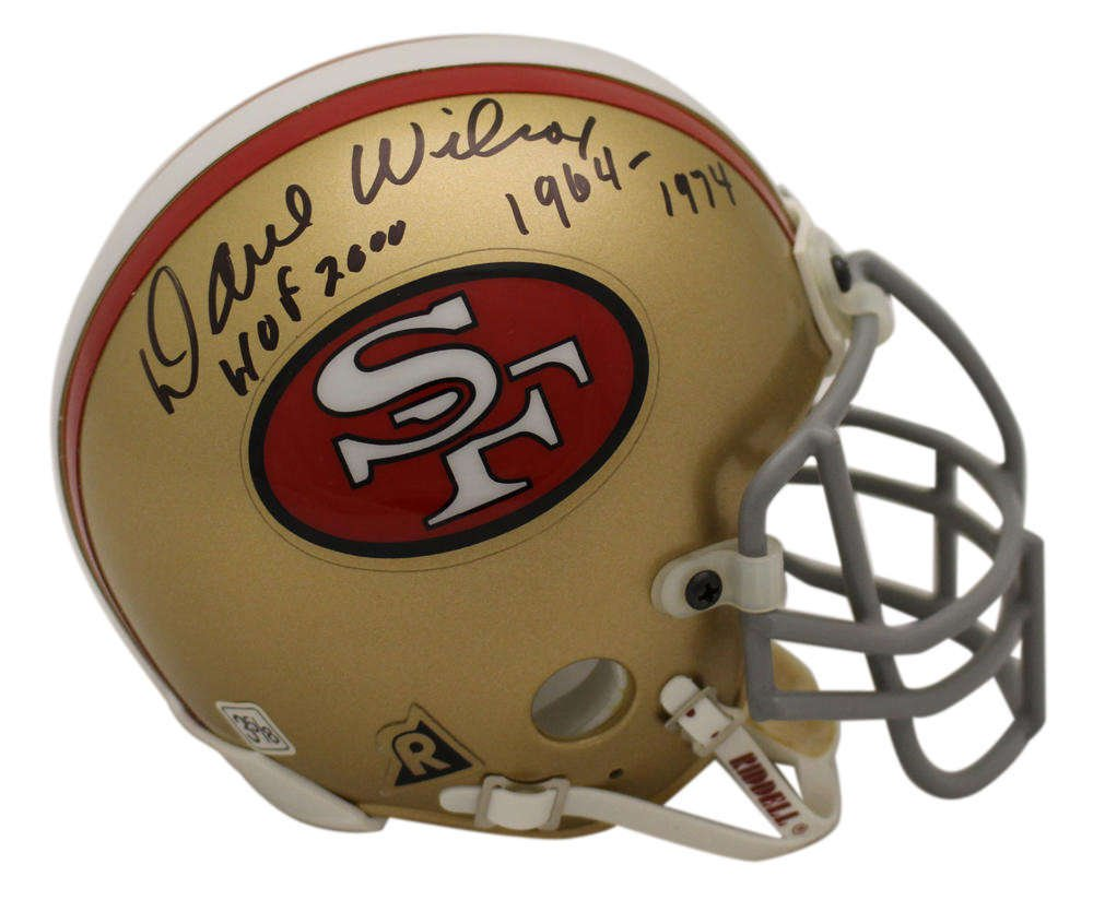 Dave Wilcox Autographed Signed San Francisco 49ers Mini Helmet OA COA