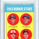 Pete Rose Cincinnati Reds Autographed Signed 1963 Topps Rookie Card BECKETT