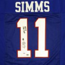 Phil Simms Autographed Signed New York Giants Jersey PSA
