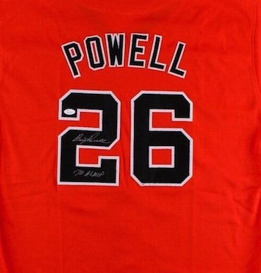 Boog Powell Signed Autographed Baltimore Orioles Jersey JSA
