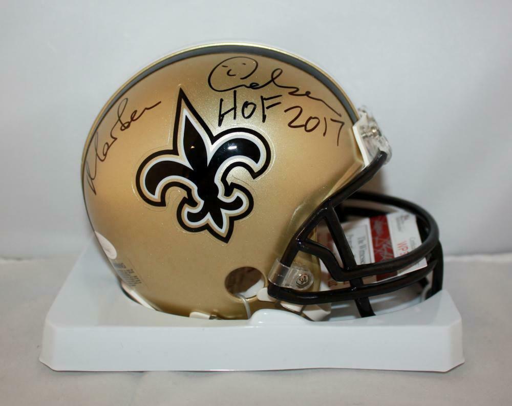 Morten Andersen Autographed Signed New Orleans Saints Mini Helmet JSA