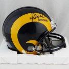 Marshall Faulk Autographed Signed St. Louis Rams Mini Helmet BECKETT