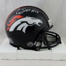 Courtland Sutton Autographed Signed Denver Broncos Mini Helmet JSA