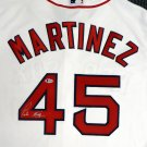 Pedro Martinez Signed Autographed Boston Red Sox Majestic Jersey BECKETT