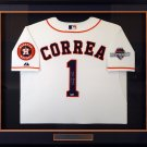 Carlos Correa Signed Autographed Framed Houston Astros Majestic Jersey MLB COA