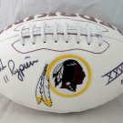 Mark Rypien Signed Autographed Washington Redskins Logo Football JSA