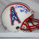 Curley Culp Signed Autographed Houston Oilers Mini Helmet JSA