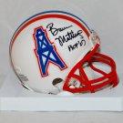 Bruce Matthews Signed Autographed Houston Oilers Mini Helmet JSA