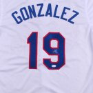 Juan Gonzalez Autographed Signed Texas Rangers Jersey JSA