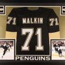 Evgeni Malkin Autographed Signed Pittsburgh Penguins Framed Jersey JSA