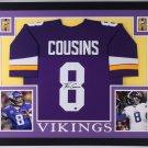 Kirk Cousins Autographed Signed Minnesota Vikings Framed Jersey COUSINS HOLO
