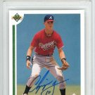 Chipper Jones Atlanta Braves Autographed Signed 1991 Upper Deck Rookie Card PSA