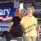 Bill Clinton and Hillary Clinton Autographed Signed 8X10 Photo BECKETT