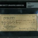 Jim Thorpe Autographed Signed 1951 Bank Check BECKETT