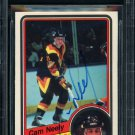 Cam Neely Canucks Signed Autographed 1984-85 O-Pee-Chee Rookie Card BECKETT
