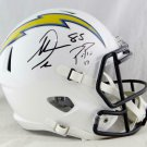 Phillip Rivers Antonio Gates Autographed Signed San Diego Chargers FS Speed Helmet BECKETT