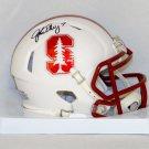 John Elway Autographed Signed Stanford Cardinals Mini Helmet JSA
