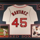 Pedro Martinez Autographed Signed Framed Boston Red Sox Jersey JSA
