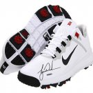 Tiger Woods Signed Autographed TW Nike Golf Shoes UPPER DECK